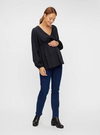 Čierna tehotenská blúzka Mama.licious