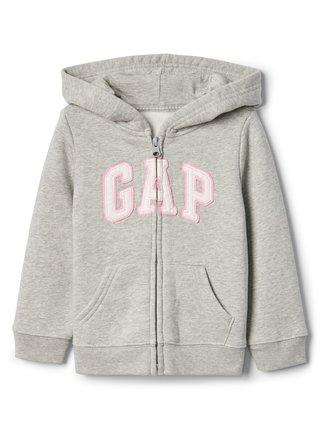 Šedá dievčenská mikina GAP logo