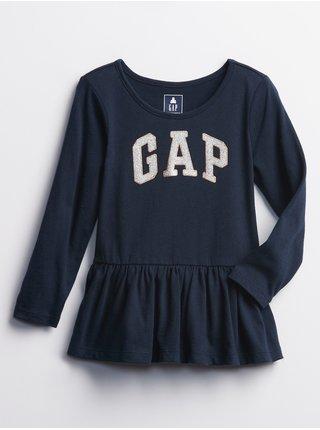 Modré holčičí šaty GAP logo