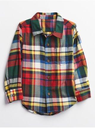 Zeleno-červená kostkovaná klučičí košile GAP