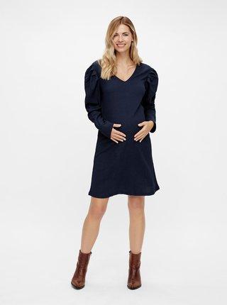 Tmavě modré těhotenské šaty Mama.licious
