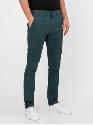 Zelené pánskw nohavice GAP Skinny