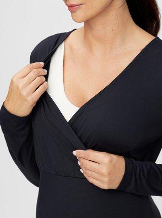Čierne tehotenské/dojčiace tričko Mama.licious
