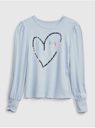 Modré holčičí tričko GAP