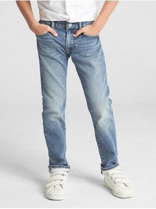 Džínsy GAP Slim Modrá