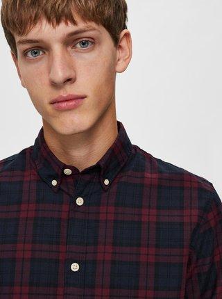 Modro-vínová košile Selected Homme