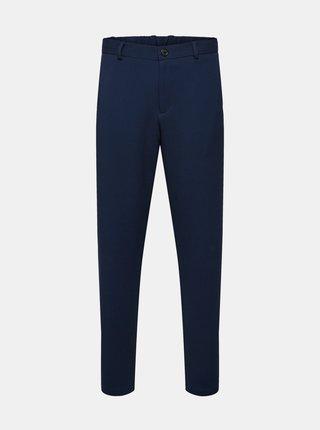 Tmavě modré kalhoty Selected Homme-Tapered