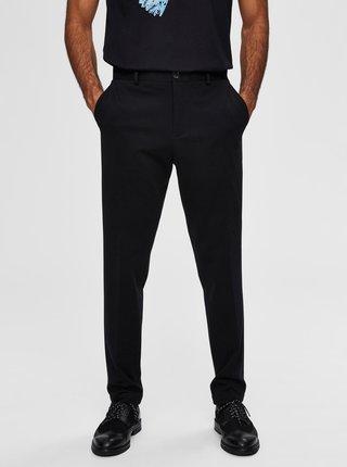 Čierne skrátené nohavice Selected Homme