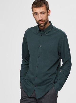 Zelená košeľa Selected Homme