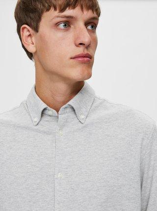 Šedá košeľa Selected Homme