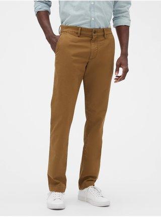 Hnedé pánske nohavice GAP Slim Fit