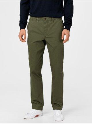 Zelené pánske nohavice GAP Slim Fit