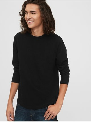 Čierne pánske tričko GAP Curved Hem
