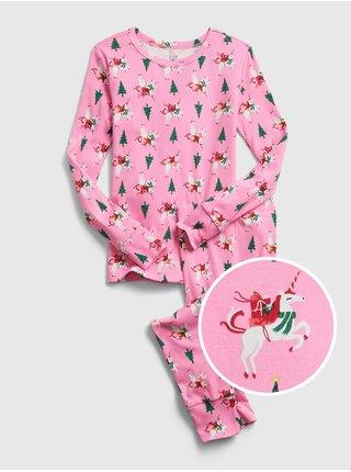 Ružové dievčenské pyžamo GAP