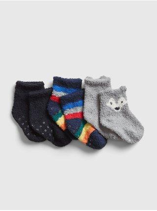 Ponožky GAP, 3 páry Modrá