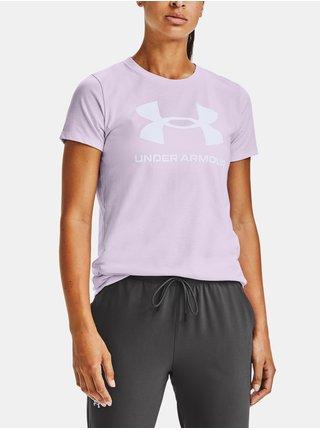 Světle fialové tričko Under Armour Live Sportstyle Graphic SSC