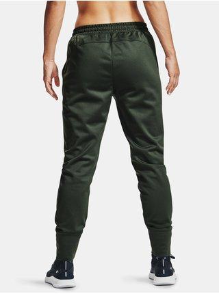 Zelené tepláky Under Armour Recover Fleece Pants