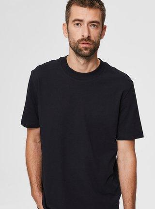 Čierne basic tričko Selected Homme