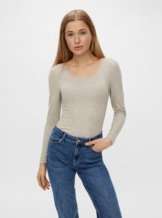 Béžový lehký svetr Pieces