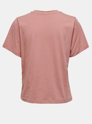 Růžové tričko s potiskem Jacqueline de Yong Frutty