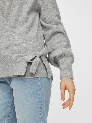 Šedý svetr se zavazováním Pieces
