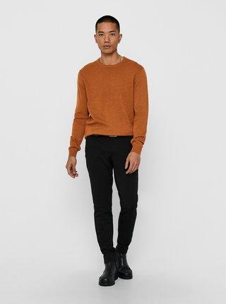 Oranžový basic svetr ONLY & SONS