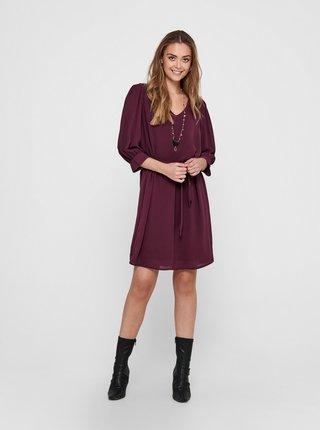 Vínové šaty Jacqueline de Yong Amanda