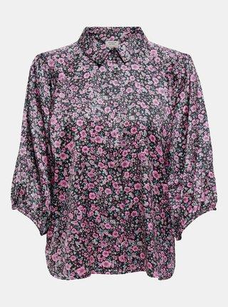 Čierna kvetovaná košeľa Jacqueline de Yong Juliette