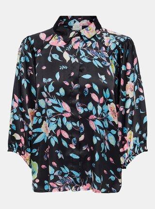 Černá vzorovaná košile Jacqueline de Yong Juliette