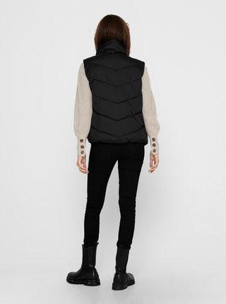 Čierna prešívaná vesta Jacqueline de Yong Finno