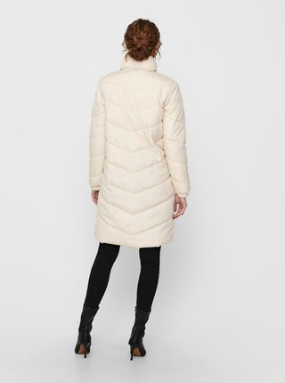 Krémový prošívaný kabát Jacqueline de Yong Finno