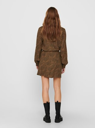 Hnedé vzorované šaty Jacqueline de Yong Pearl