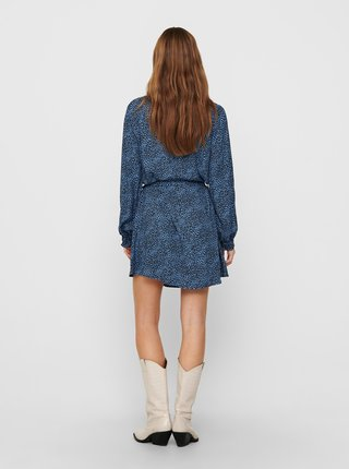 Modré vzorované šaty Jacqueline de Yong Pearl