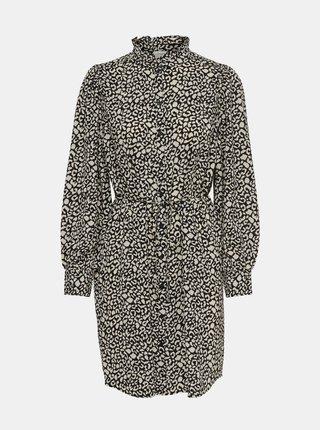 Šedé vzorované košilové šaty Jacqueline de Yong Milo