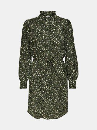 Zelené vzorované košilové šaty Jacqueline de Yong Milo