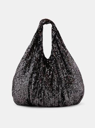 Černá flitrovaná taška Pieces