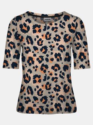 Šedé vzorované tričko Noisy May Sally