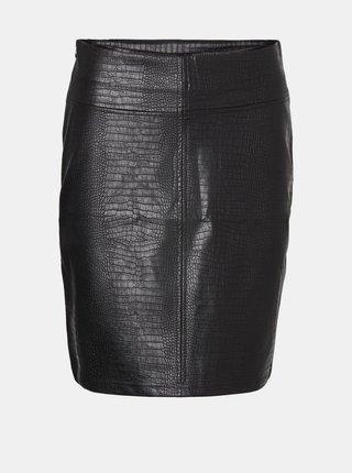 Černá koženková sukně Noisy May Lissy