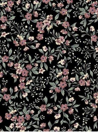 Černé květované midišaty Pieces