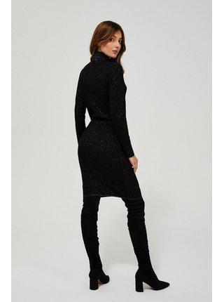 Moodo černé třpytivé šaty