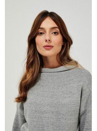 Moodo šedé svetrové šaty