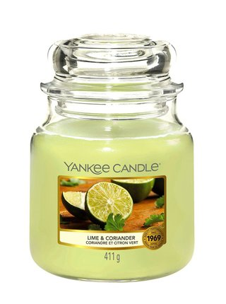 Yankee Candle vonná svíčka Lime&Coriander Classic střední