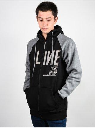 Line Original black pánská mikiny na zip - černá
