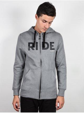 Ride Logo FZ GRAY pánská mikiny na zip - šedá