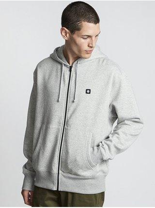 Element 92 grey heather pánská mikiny na zip - šedá