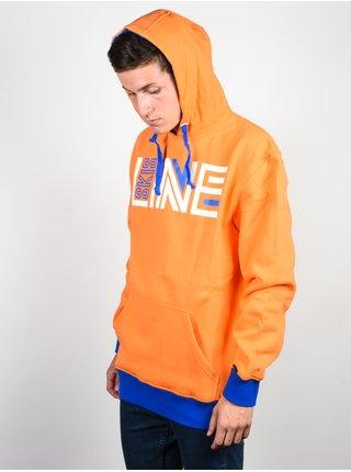 Line Stance ORANGE mikiny přes hlavu pánská - oranžová