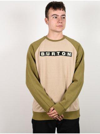 Burton VAULT PLAZA TAUPE mikiny přes hlavu pánská - zelená