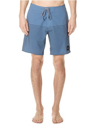 RVCA CURREN TRUNK blue slate pánské kraťasové plavky - modrá