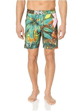 RVCA MEL G TIGER PALM TRU TROPICAL pánské kraťasové plavky - zelená