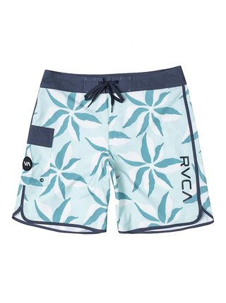 RVCA EASTERN TRUNK 18 DUSTY AQUA pánské kraťasové plavky - modrá